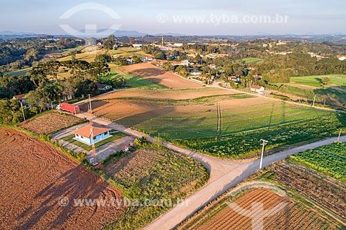 Foto aérea do Distrito de Colônia Murici  - São José dos Pinhais - Paraná (PR) - Brasil