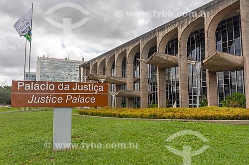 Fachada do Palácio da Justiça (1963) - sede do Ministério da Justiça  - Brasília - Distrito Federal (DF) - Brasil