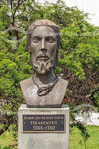 Busto de Joaquim José da Silva Xavier (Tiradentes) no Panteão da Pátria e da Liberdade Tancredo Neves  - Brasília - Distrito Federal (DF) - Brasil