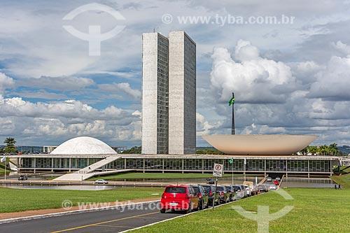 Vista geral do Congresso Nacional  - Brasília - Distrito Federal (DF) - Brasil