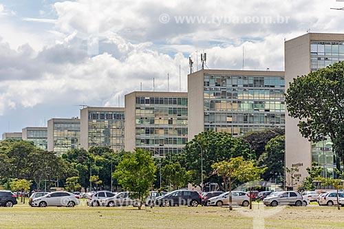 Vista da Esplanada dos Ministérios  - Brasília - Distrito Federal (DF) - Brasil