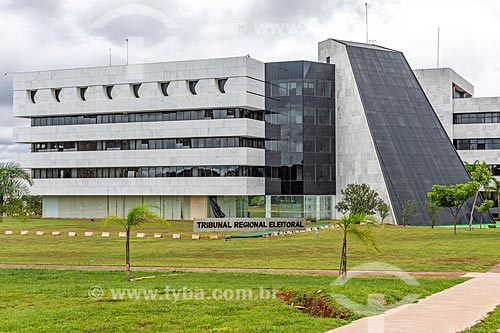 Fachada da sede do Tribunal Regional Eleitoral  - Brasília - Distrito Federal (DF) - Brasil