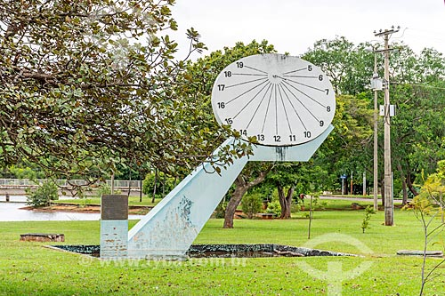 Relógio de sol no Parque da Cidade Dona Sarah Kubitschek - mais conhecido como Parque da Cidade  - Brasília - Distrito Federal (DF) - Brasil