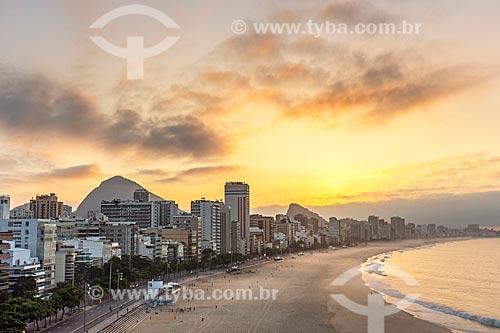 Vista do amanhecer na Praia do Leblon  - Rio de Janeiro - Rio de Janeiro (RJ) - Brasil