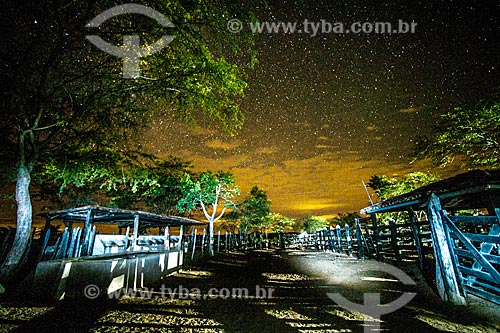 Curral de fazenda na Chapada Diamantina à noite  - Jacobina - Bahia (BA) - Brasil