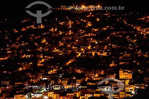 Vista geral da cidade de Jacobina à noite  - Jacobina - Bahia (BA) - Brasil