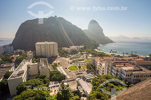 Vista do Pão de Açúcar durante a escalada do Morro da Babilônia  - Rio de Janeiro - Rio de Janeiro (RJ) - Brasil