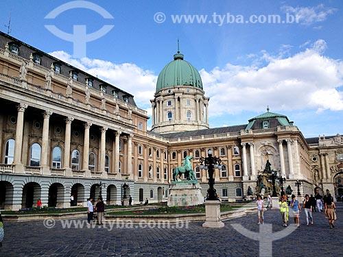 Fachada de parte do Castelo de Buda (Budavári Palota)  - Budapeste - Região de Budapeste - Hungria