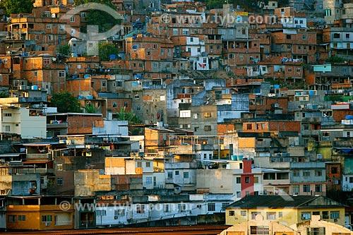 Vista de casas no Morro da Mangueira  - Rio de Janeiro - Rio de Janeiro (RJ) - Brasil