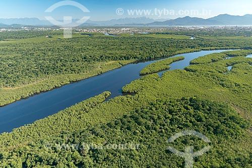Foto aérea do Rio Almeida  - Paranaguá - Paraná (PR) - Brasil