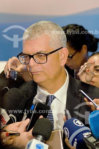 Detalhe de Ivan Monteiro - Presidente da PETROBRAS - após o leilão da 4ª rodada de partilha da produção do Pré-sal  - Rio de Janeiro - Rio de Janeiro (RJ) - Brasil