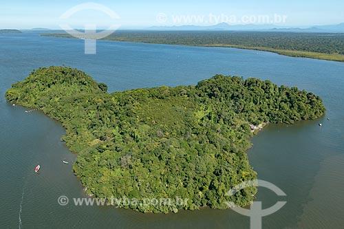 Foto aérea da Ilha do Pinheirinho no Parque Nacional de Superagüi  - Guaraqueçaba - Paraná (PR) - Brasil