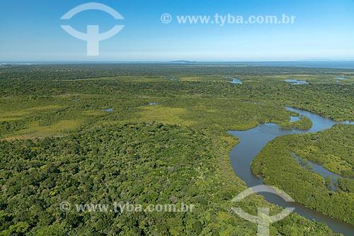 Foto aérea da Ilha de Superagüi no Parque Nacional de Superagüi  - Guaraqueçaba - Paraná (PR) - Brasil