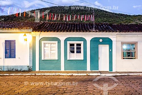 Fachada de casario no Ribeirão da Ilha  - Florianópolis - Santa Catarina (SC) - Brasil