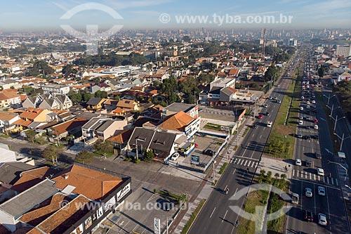 Foto feita com drone da Avenida Comendador Franco  - Curitiba - Paraná (PR) - Brasil