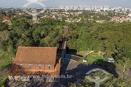 Foto feita com drone do Oratório Bach no Bosque Alemão  - Curitiba - Paraná (PR) - Brasil