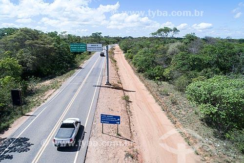 Foto feita com drone de trecho da Rodovia CE-060 na Chapada do Araripe  - Barbalha - Ceará (CE) - Brasil