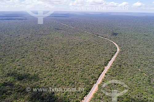 Foto feita com drone de trecho da Rodovia CE-060 na Floresta Nacional do Araripe-Apodi  - Barbalha - Ceará (CE) - Brasil