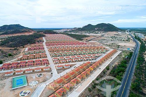 Foto feita com drone de Conjunto habitacional do Programa Minha Casa Minha Vida  - Salgueiro - Pernambuco (PE) - Brasil