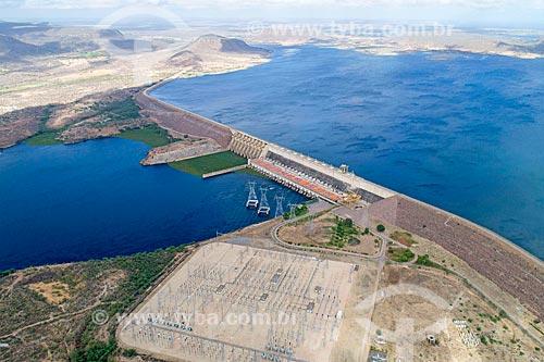Foto feita com drone da Usina Hidrelétrica Luiz Gonzaga - antiga Usina Hidrelétrica de Itaparica  - Petrolândia - Pernambuco (PE) - Brasil