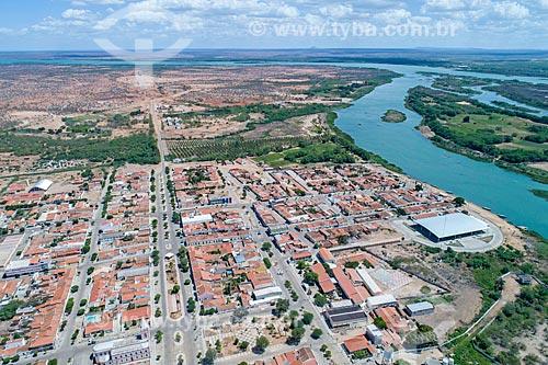 Foto feita com drone da cidade de Belém de São Francisco com o Rio São Francisco  - Belém de São Francisco - Pernambuco (PE) - Brasil