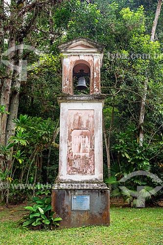 Detalhe do campanário da Capela Mayrink (1855) no Parque Nacional da Tijuca  - Rio de Janeiro - Rio de Janeiro (RJ) - Brasil