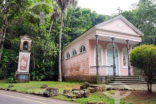 Fachada da Capela Mayrink (1855) no Parque Nacional da Tijuca  - Rio de Janeiro - Rio de Janeiro (RJ) - Brasil