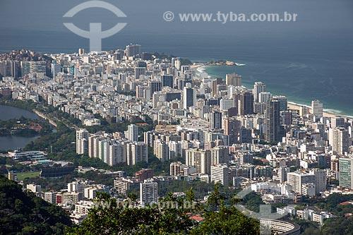 Vista dos bairros do Leblon e Ipanema a partir do Mirante da Vista Chinesa  - Rio de Janeiro - Rio de Janeiro (RJ) - Brasil