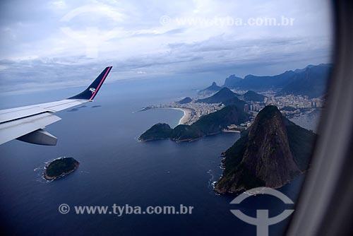 Vista durante sobrevoo ao Pão de Açúcar  - Rio de Janeiro - Rio de Janeiro (RJ) - Brasil
