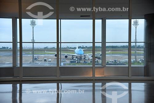 Avião cargueiro na pista do Aeroporto Internacional de Viracopos  - Campinas - São Paulo (SP) - Brasil