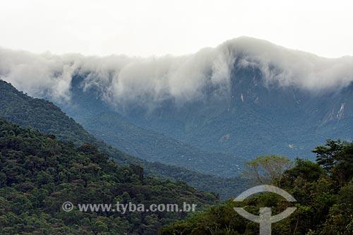 Vista de neblina na Reserva Ecológica de Guapiaçu  - Cachoeiras de Macacu - Rio de Janeiro (RJ) - Brasil