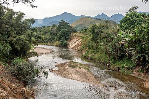 Vista de trecho do Rio Macacu na Área de Proteção Ambiental da Bacia do Rio Macacu  - Cachoeiras de Macacu - Rio de Janeiro (RJ) - Brasil