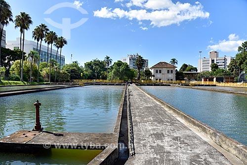 Tanques da Estação de Tratamento de Água Moinhos de Vento (1928) - também conhecida como Hidráulica Moinhos de Vento  - Porto Alegre - Rio Grande do Sul (RS) - Brasil