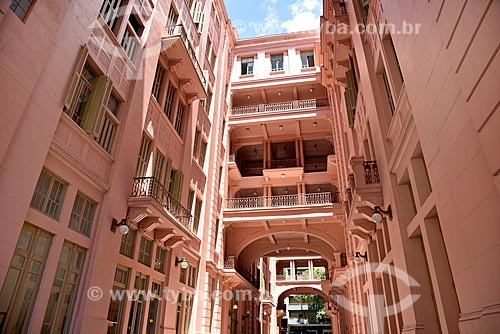 Hall de entrada da Casa de Cultura Mario Quintana (1933) - antigo Hotel Majestic  - Porto Alegre - Rio Grande do Sul (RS) - Brasil