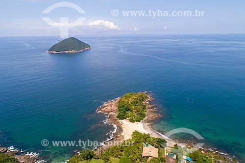 Foto feita com drone da Ilha de Toque-Toque  - São Sebastião - São Paulo (SP) - Brasil