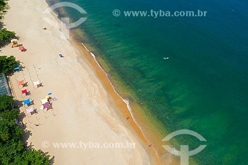 Foto feita com drone da Praia do Toque-Toque Pequeno  - São Sebastião - São Paulo (SP) - Brasil