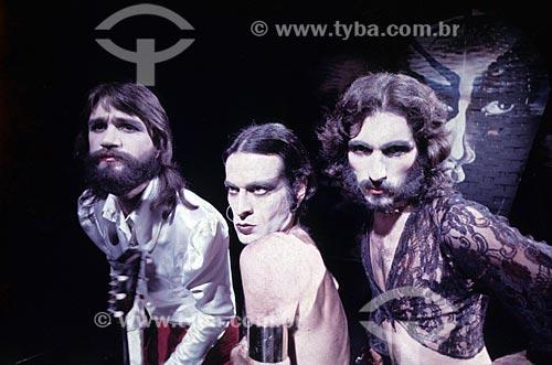 Grupo musical Secos e Molhados - da esquerda para a direita: João Ricardo, Ney Matogrosso e Gérson Conrad - anos 70
