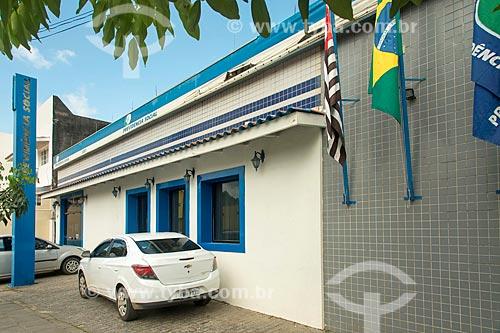 Fachada do edifício sede da Previdência Social na cidade de São Sebastião  - São Sebastião - São Paulo (SP) - Brasil