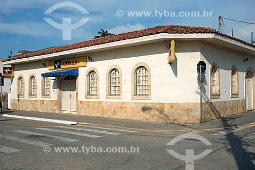 Fachada de Agência dos Correios em casario  - São Sebastião - São Paulo (SP) - Brasil
