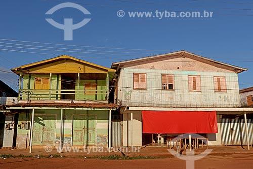 Casa de madeiras na cidade de Boca do Acre  - Boca do Acre - Amazonas (AM) - Brasil