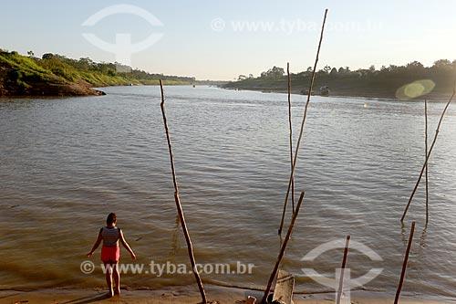 Vista da divisa entre os Rio Acre e Rio Purus  - Boca do Acre - Amazonas (AM) - Brasil