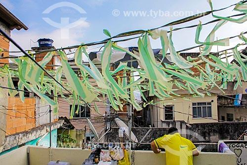 Casa decorada para a Copa do Mundo 2018 na Favela do Jacarezinho  - Rio de Janeiro - Rio de Janeiro (RJ) - Brasil