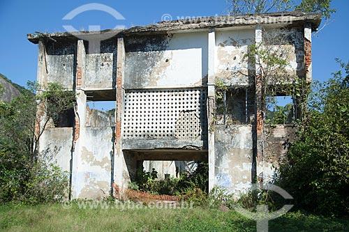 Prédio abandonado no antigo Presídio de Ilha Grande - atualmente Ecomuseu Ilha Grande  - Angra dos Reis - Rio de Janeiro (RJ) - Brasil