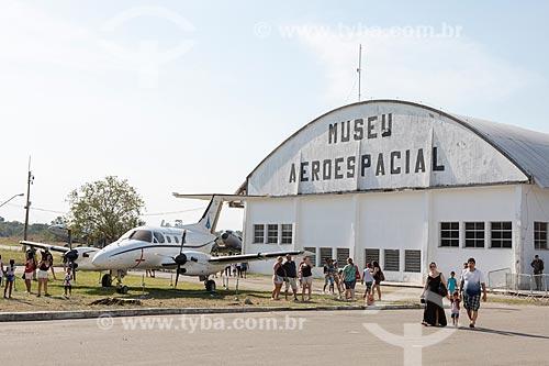 Fachada do Museu Aeroespacial (1976) na Base Aérea dos Afonsos  - Rio de Janeiro - Rio de Janeiro (RJ) - Brasil