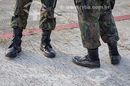 Detalhe de uniforme de militares na Base Aérea dos Afonsos  - Rio de Janeiro - Rio de Janeiro (RJ) - Brasil