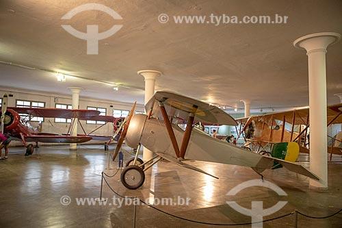 Avião francês de combate Nieuport 21-E1 (início do século XX) em exibição no Museu Aeroespacial (1976) na Base Aérea dos Afonsos  - Rio de Janeiro - Rio de Janeiro (RJ) - Brasil