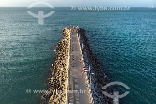 Foto feita com drone da Espigão da Praia de Iracema  - Fortaleza - Ceará (CE) - Brasil