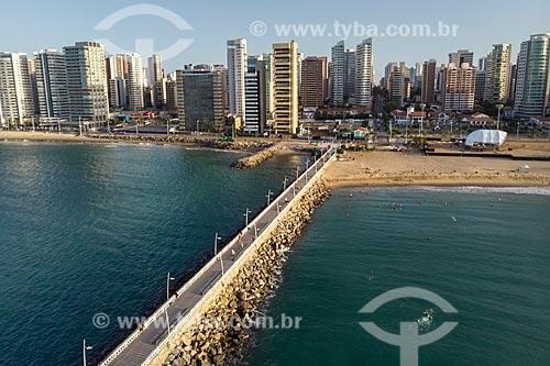 Foto feita com drone da Praia de Iracema  - Fortaleza - Ceará (CE) - Brasil