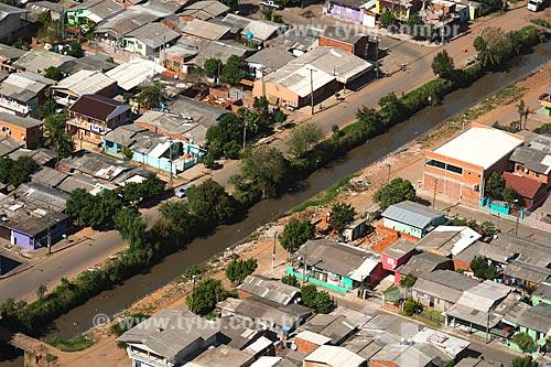Foto aérea da rio canalizado na Rua Alcântara  - Novo Hamburgo - Rio Grande do Sul (RS) - Brasil