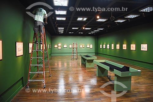 Montagem de exposição no Centro Cultural da Caixa Econômica Federal  - Rio de Janeiro - Rio de Janeiro (RJ) - Brasil